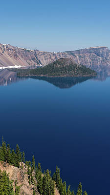 Photograph - Wizard Island Crater Lake Oregon by Lawrence S Richardson Jr