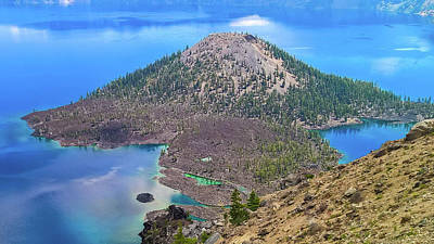 Photograph - Wizard Island Crater Lake, Oregon by Pacific Northwest Imagery