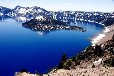 Photograph - Wizard Island In Crater Lake by Michael Courtney