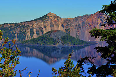 Photograph - Wizard Island Reflections by Greg Norrell