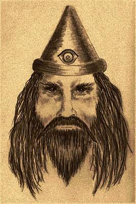 Fantasy Drawings - Wizard by Michael Vigliotti
