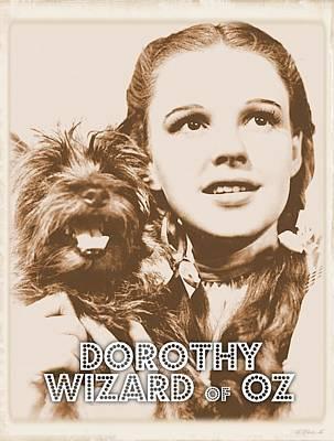 Singer Digital Art - Wizard Of Oz Dorothy by John Springfield