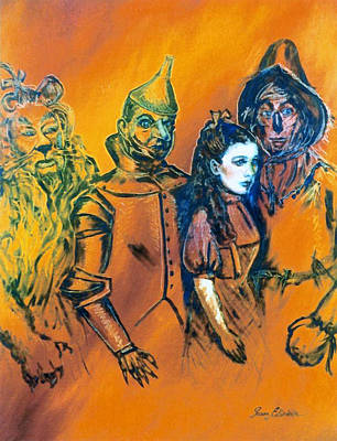 Painting - Wizard Of Oz Friends by Susan Elizabeth Wolding
