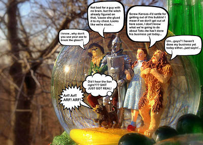Photograph - Wizard Of Oz Humor Iv by Aurelio Zucco