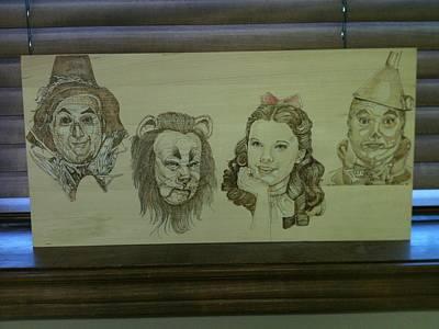 John Pitre Pyrography - Wizard Of Oz by John Pitre