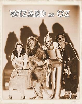 Singer Digital Art - Wizard Of Oz by John Springfield