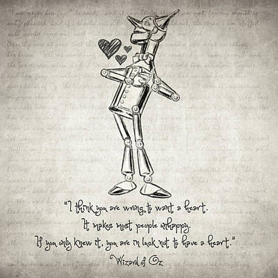 Drawing - Wizard Of Oz Quote by Taylan Apukovska