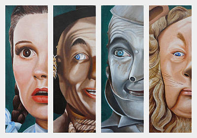 Painting - Wizard of Oz Set One by Vic Ritchey