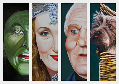 Painting - Wizard of Oz Set Two by Vic Ritchey