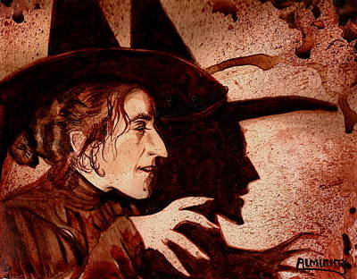 Wizard Of Oz Wicked Witch - Dry Blood Print by Ryan Almighty