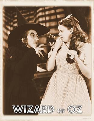 Singer Digital Art - Wizard Of Oz Wicked Witch by John Springfield