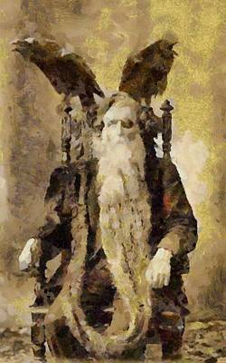 Fantasy Royalty-Free and Rights-Managed Images - Wizard by Esoterica Art Agency