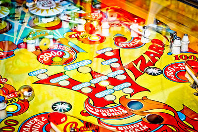 Photograph - Wizard - Pinball Machine by Colleen Kammerer