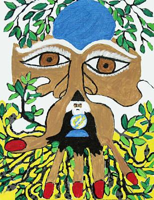 Wizard Tells The Future Art Print by Betty  Roberts
