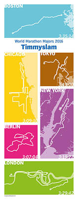 Running Digital Art - Wmm_16_ver_tb by Big City Artwork