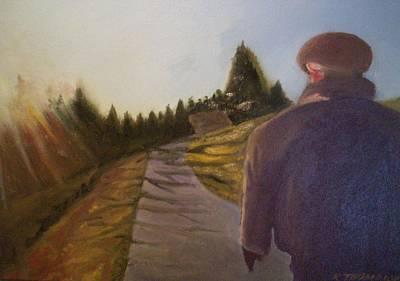 Wnter Walk Art Print by Karen Thompson