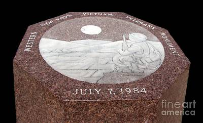 Photograph - Wny Vietnam Veterans Monument by Rose Santuci-Sofranko