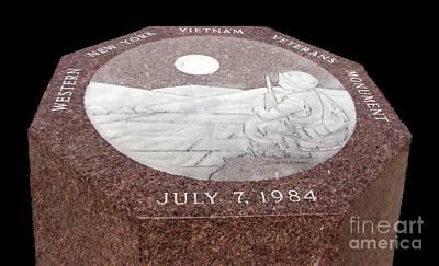 Photograph - Wny Vietnam Veterans Monument by Rose Santuci-Sofranko