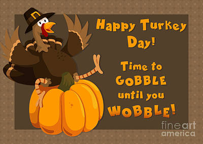 Digital Art - Wobbling Turkey by JH Designs