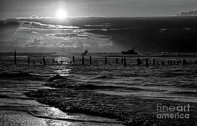 Photograph - Woeful Morning Outer Banks Bw by Dan Carmichael