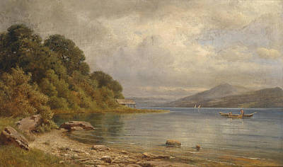 Painting - Woerthersee Near Velden by Gottfried Seelos