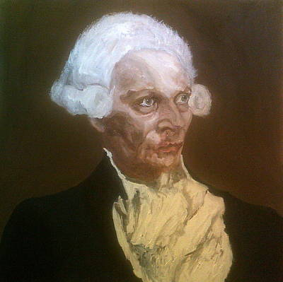 Painting - Wojciech Pszoniak As Robespierre by Peter Gartner
