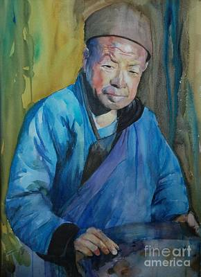 Old Chinese Man Painting - Wokman by Brad Schulze
