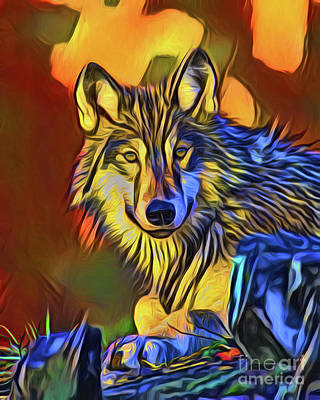 Photograph - Wolf 20418 by Ray Shrewsberry