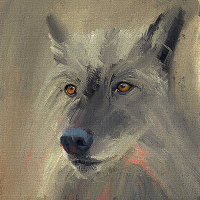 Wolf Digital Design Digital Art - Wolf Alert by Yury Malkov