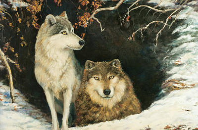 Painting - Wolf At Home by Peter Jean Caley