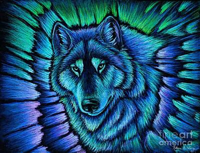 Wolf Aurora Art Print