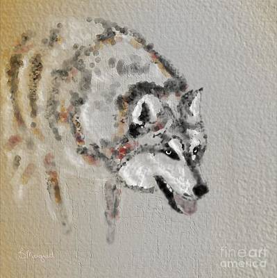 Digital Art - Wolf by Barbara Moignard