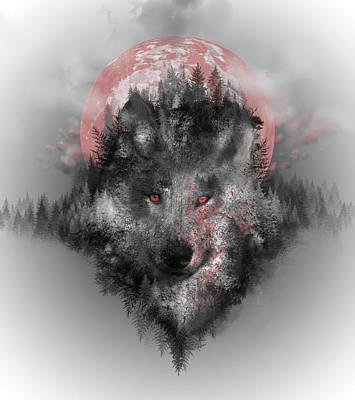 Digital Art - Wolf by Bekim Art