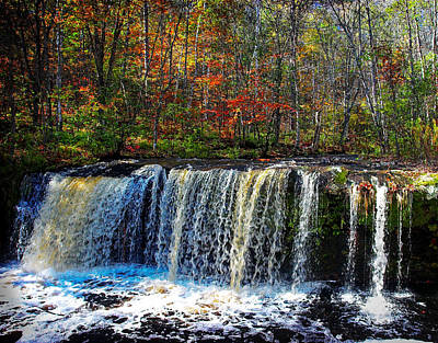 Photograph - Wolf Creek Falls Autumn by Rikk Flohr