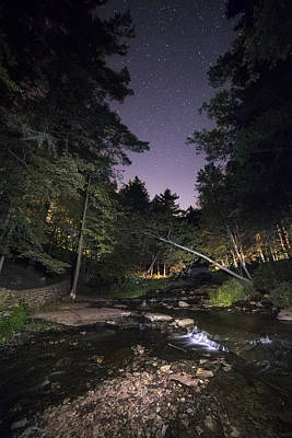 Art Print featuring the photograph Wolf Creek Starry Night by Mark Papke