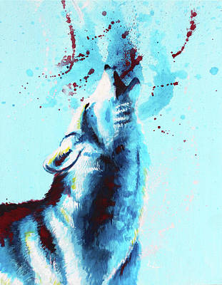 Wolf Cry Art Print by Floriane Meylan