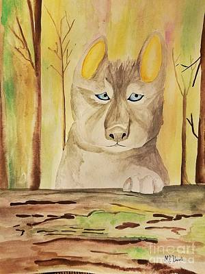 Painting - Wolf Cub by Maria Urso
