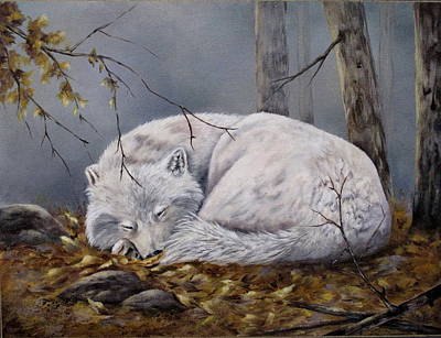 Wolf Dreams Art Print by Mary McCullah