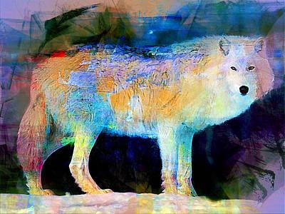 Wolf Print by Elena Kosvincheva