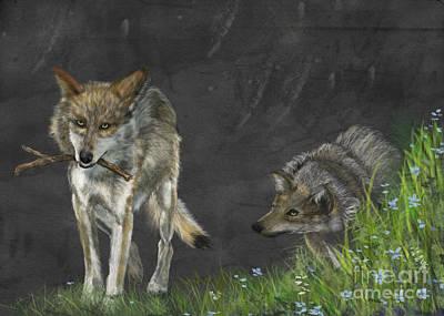 Wolf Games Art Print