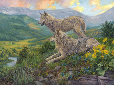Painting - Wolf Haven by Lucie Bilodeau