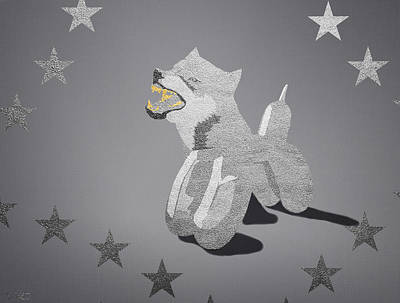 Bling Mixed Media - Wolf In Koons Clothing by Surj LA