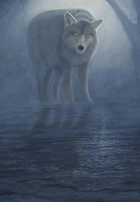 Painting - Wolf In The Mist by Lorraine Foster