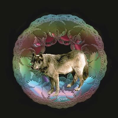 Wolf Art Print by Julie Grace