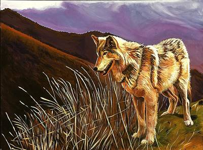 Painting - Wolf by Kathleen Heese
