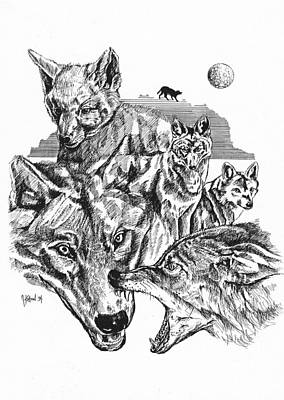 Animals Drawings - Wolf Life Cycle by John Keaton