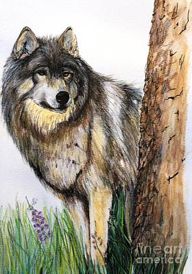 Mixed Media - Wolf by Lorah Tout