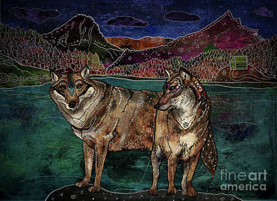 Wild Wolf Mixed Media - Wolf Love by Francesca Rizzato