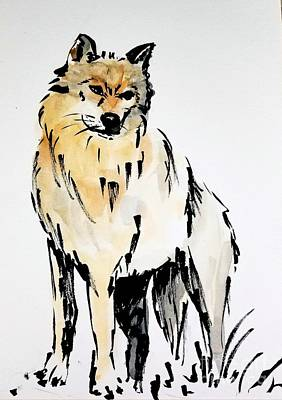 Painting - Wolf by Maria Langgle