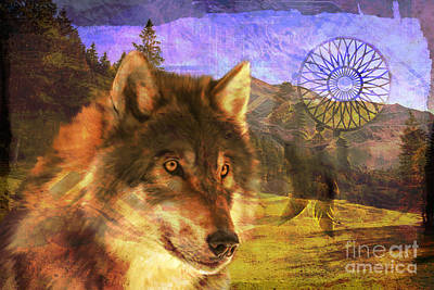 Digital Art - Wolf Medicine 2015 by Kathryn Strick